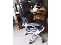 Computer desk swivel chair.