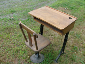 antique school desk and chair 1893