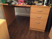 Bundle of large items for free (Integrated fridge-freezer, Desk, 2 bedside tables)