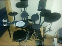 Roland TD11K Drum Kit with Ride Cymbal and Accessories.