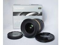 Tamron AF SP 10-24mm f3.5-4.5 Di II LD Aspherical Lens. Canon EF fit, ultra wide angle lens.