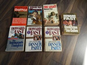 Howard Fast Books 50 cents each or all for $2