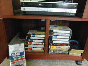 VHS Machine with tapes, mainly opera