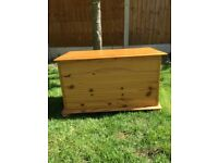 Good solid pine toy box