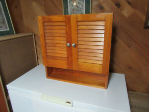 Wooden Wall Cabinet (for kitchen or bathroom)