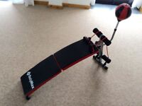 Bodymax folding sit-up bench and punch ball nearly brand new
