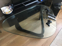 stunning glass and wooden table for sale