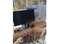 """Phillips 21.5"""" Monitor for PC or Games Console"""