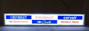 LIGHTED RARE CHEVROLET SIGN.