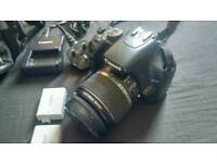 Canon EOS450d digital SLR camera + 18-55mm IS lens, 2 battery, charger and case!