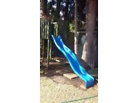 Outdoor slide to attach to tree house or outdoor play area