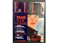 Elle magazine, October 1987
