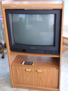 """24"""" Electrohome TV and stand"""