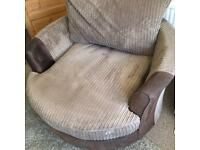 Swivel love seat