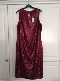 Brand new red sequin dress size 24