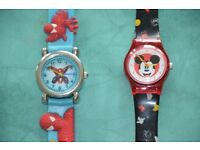 2 kids watches: Spiderman & Mickey Mouse