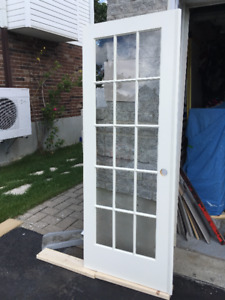 2 portes francaises avec loquet