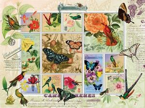1000 Piece Puzzle - Butterfly & Hummingbird flight  So Pretty