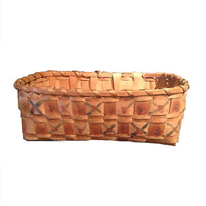 "Antique Native ""Potato Stamp"" Basket"