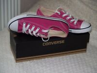 Converse Trainers. Colour Red. Size 4.