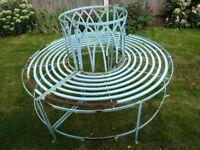 Sturdy iron tree seat. Vintage