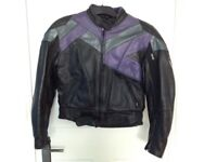 Frank Thomas Womens motorbike jacket as new UK size 12/14 + free pair biking gloves