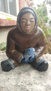 Vintage inuit sculptor abbot canada