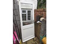 Large, Heavy White Door with big window
