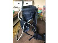 Mothercare toddler/child back carrier with bag
