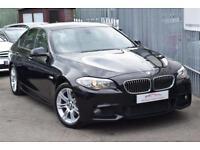 2013 BMW 5 Series 520 Saloon 2.0d 184 SS M Sport St8 Diesel black Automatic
