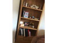 Matching Oak Book Shelving & TV Units