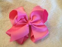 *New* 6 inch Medium Pink Hair Bow