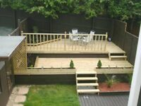 GARDEN SERVICES / DECKING/ SHEDS/ GARDEN BARS AND BUILDINGS