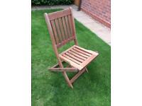 Teak folding garden chair.