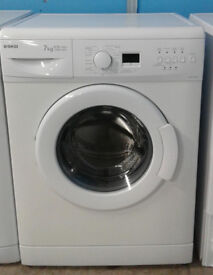 S499 white beko 7kg 1300spin A+A rated washing machine comes with warranty can be delivered