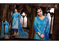 Latest Unstithed indian paksiatni salwar kameez cotton suit