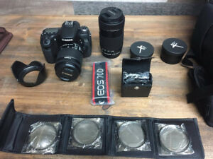 Canon 70D with 18-55mm IS and 55-250mm IS