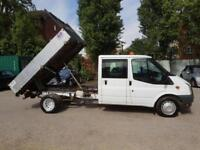 (( NO VAT )) FORD TRANSIT CREWCAB TIPPER IN VGC IN AND OUT