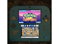 Nintendo 2DS 87 Games Super Custom Mini Console Bundle Mario SNES Pokemon