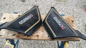 Side covers with emblems for 1982 GS850G