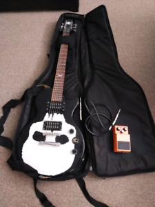 Epiphone guitar, pedal and soft case