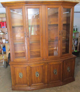 Solid and sturdy china cabinet 4 sale