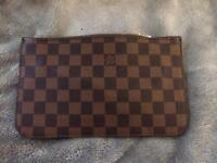 Designer Inspired purse Clutch brown print BNWT