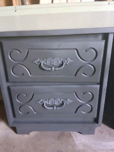 End table charcoal grey