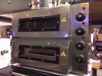 TWIN DECK COMMERCIAL NEW CATERING OVEN MACHINE TAKEAWAY RESTAURANT PUB DINER SHOP KITCHEN BAR