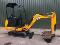 JCB 8014, YEAR 2014, 908 HOURS, 3 BUCKETS, MINI DIGGER EXCAVATOR.