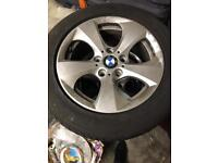 BMW alloys with tyres!