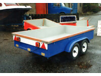 Mould for making glass fibre trailer body's