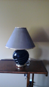 Stunning black and gold table lamp - gorgeous shade.