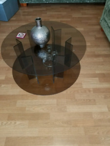 Glass coffee table 36 inch round